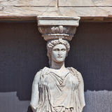 Caryatid detail, Acropolis of Athens Stock Photography