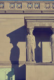 Caryatid on front of classic building Royalty Free Stock Photos