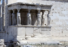 The Caryatid Porch of the Erechtheion, Athens Royalty Free Stock Photos