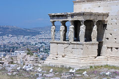 Caryatid Porch of the Erechtheion in Athens Royalty Free Stock Image