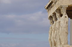 The Caryatid Porch of the Erechtheion Stock Images