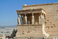 Caryatid Porch of Erechtheum Stock Photography
