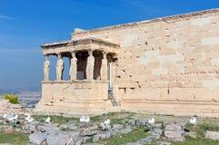 The Caryatid Porch of the Erechtheum , Acropolis, Greece stock photo