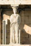 Caryatid portrait at Acropolis in Greece. Stock Photo