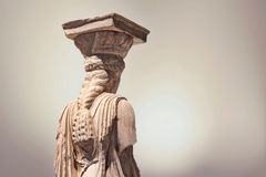 Caryatid statue Stock Images