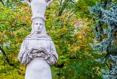 Caryatid Woman Statue stock images