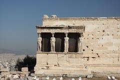 Caryatides, Acropole d'Athènes images stock