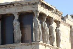 Caryatides, Acropole d'Athènes image libre de droits