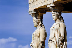 Caryatides at Acropolis, Athens Stock Images
