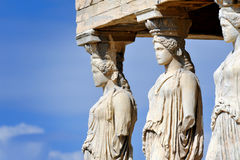 Caryatides at Acropolis Stock Image