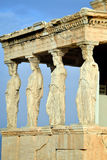 Caryatides at Acropolis of Athens Stock Photo