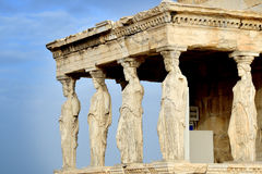 Caryatides at Acropolis of Athens Royalty Free Stock Photo