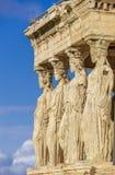 Caryatides, Erechtheion świątynny akropol w Ateny, Grecja zdjęcie royalty free