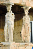 Caryatides, Erechtheion temple Acropolis in Athens Royalty Free Stock Photos