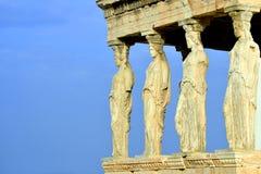 Caryatides, Erechtheion temple Acropolis in Athens Stock Photo