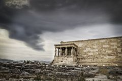 Caryatides temple Royalty Free Stock Photos