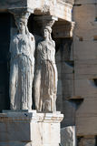 Caryatids. At the Erechteion, Acropolis, Athens, Greece Royalty Free Stock Images