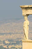 Caryatids, acropolis, athens Royalty Free Stock Photo