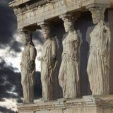 Caryatids, Acropolis of Athens, Greece stock photography
