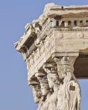 Caryatids ancient Greek statues Stock Photography