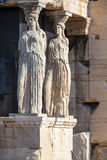 Caryatids at the Erechteion, Acropolis. Athens, Greece Stock Image