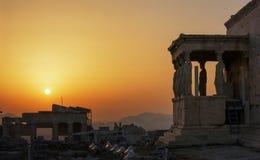 Caryatids Erechteion, Parthenon on the Acropolis in Athens Royalty Free Stock Images