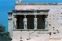 Caryatids of the Erechtheion Royalty Free Stock Images