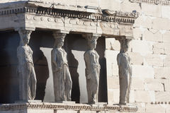 Caryatids in Erechtheion of Erechtheum Stock Photo