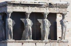Caryatids on Erechtheion of Erechtheum in Athens Stock Images