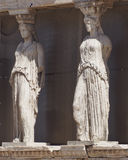 Caryatids, erechtheion temple Acropolis, Athens Stock Photos