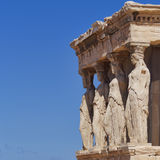 Caryatids, erechtheion temple Acropolis, Athens Royalty Free Stock Photo