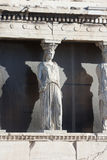Caryatids on Erechtheion temple in Athens Stock Photography