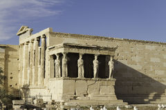 Caryatids in Erechtheum, Acropolis,Athens,Greece Royalty Free Stock Photos