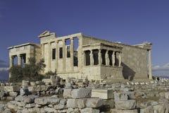 Caryatids in Erechtheum, Akropolis, Athen, Griechenland Lizenzfreie Stockbilder