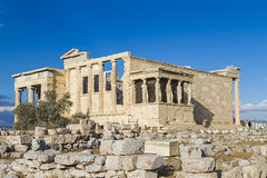 Caryatids in Erechtheum Stock Photography