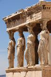 Caryatids at Porch of the Erechtheion, Acropolis Royalty Free Stock Photography