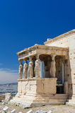 Caryatids at Porch of the Erechtheion, Acropolis Stock Images