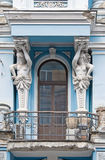 Caryatids supporting the balcony Royalty Free Stock Image