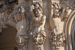 Caryatids at zwinger, dresden Royalty Free Stock Image