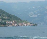 Carzano wioska Monte Isola Iseo Włochy Zdjęcia Stock
