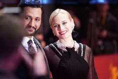 Cas Anvar and Diane Kruger attend the `The Operative. ` premiere during the 69th Berlinale Festival Berlin at Berlinale Palace on February 10, 2019 in Berlin stock photos