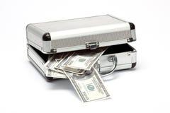 Cas avec de l'argent Image stock