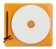 Cas blanc et disque de DVD Image libre de droits
