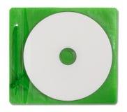 Cas blanc et disque de DVD Photo stock