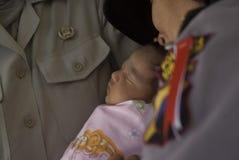 CAS D'ABUS DE DROITS D'ENFANTS DE L'INDONÉSIE Image stock