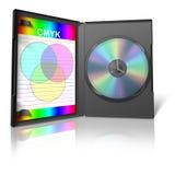 Cas de CMYK DVD et de DVD Photos stock