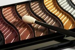 Cas de maquillage avec l'applicateur image stock