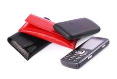 Cas de téléphone portable Images libres de droits