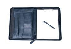 Cas et crayon lecteur d'affaires Image libre de droits