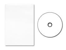 Cas vide et disque de DVD Image stock